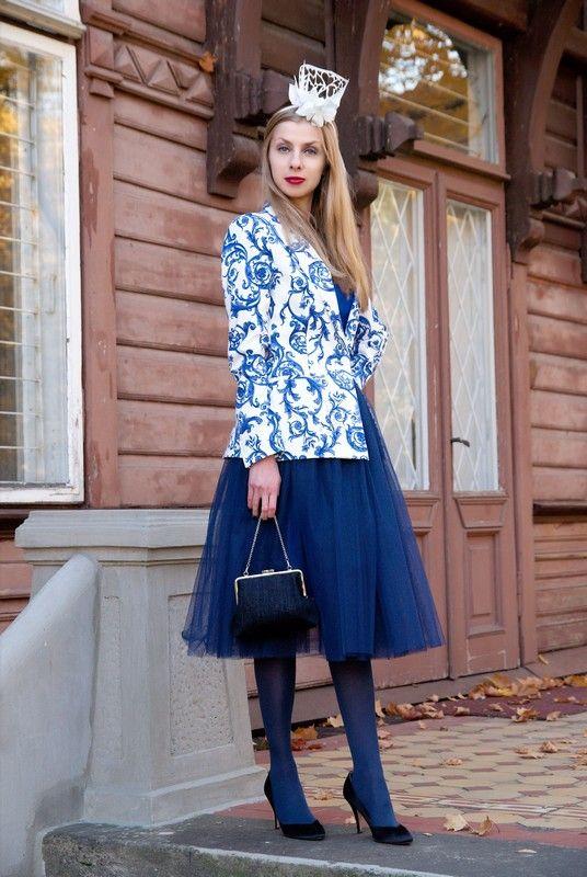 Galique - crown, blazer - Zara, bag - Yamira, skirt - no name, shoes - vintage