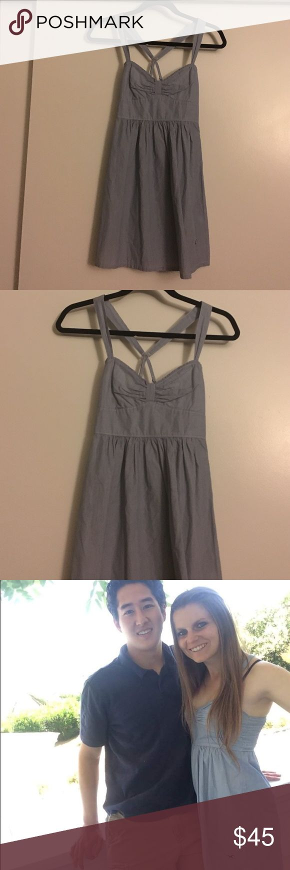 Hollister Dress Worn once super cute Hollister dress. In perfect condition, worn in Napa wine tasting. Perfect condition & super cute sundress! Hollister Dresses Mini