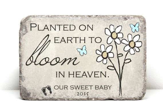 Miscarriage Memorial Stone. PERSONALIZED Gift. 6x9 Tumbled (Concrete) Paver. Baby Remembrance Stone. In loving memory gift. Infant Loss Gift