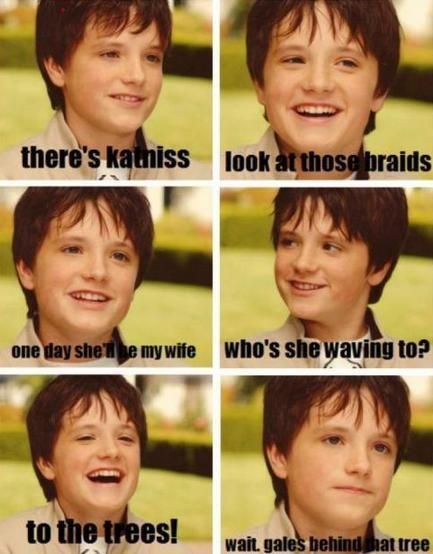 Josh Hutcherson, The Hunger Games, Poor Peeta, Trees, Hungergames, Joshhutcherson, Kids, Hunger Games Humor, So Funny