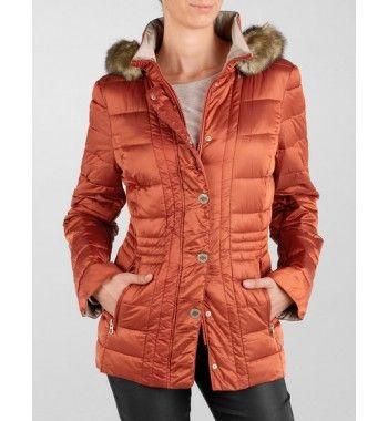 Gerry Weber Sint Petersbrug anorak jas kaneel voor warme kleurtypes!