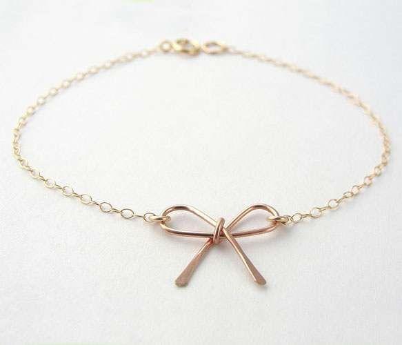 Rose Gold Bow Bracelet - Uncovet.com
