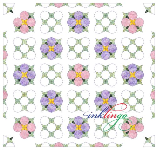Inklingo Periwinkle Quilt - Beginner Lesson on the All About Inklingo blog. Sew by hand OR by machine!