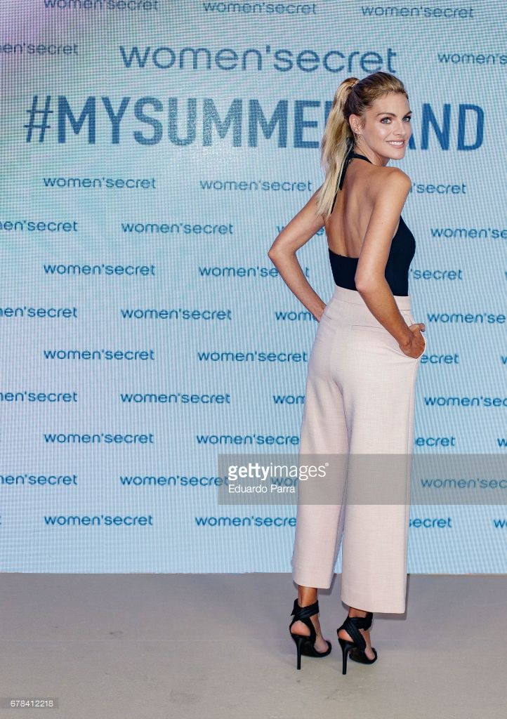 Actress Amaia Salamanca attends the 'Women'secret summer campaign' photocall at Mr. Fox studio on May 4, 2017 in Madrid, Spain.