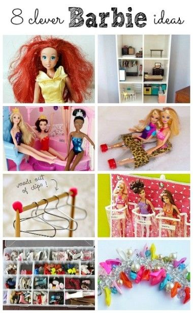 8 Clever Barbie Hacks For Kids ! From shampoo to Hangers from paper clips- all Little Girls (and Mommies ) will Love These! #funforkids