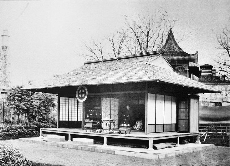Japanese Satsuma Pavillion at the 1867 Paris Exposition Universelle. Image: Wikimedia Commons