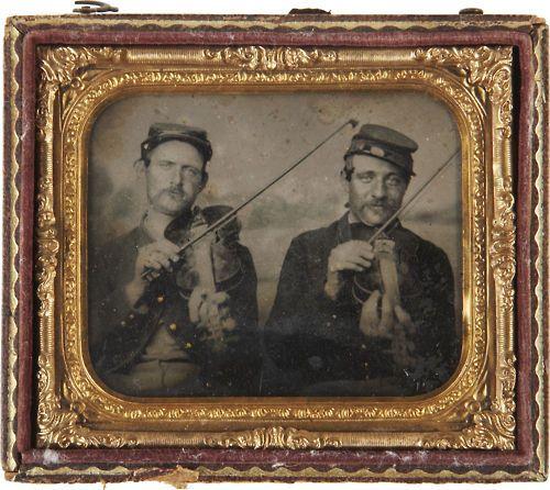 Fiddles: Heritage Auction, Tintype Photos, Soldiers Plays, Civil War, Plays Violin, Creepy Photos, Tintype Portraits, Federer Soldiers, Soldiers W Fiddle