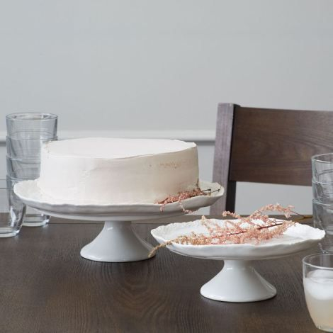 Setting the Table Valentine's Day: cake plates from West Elm