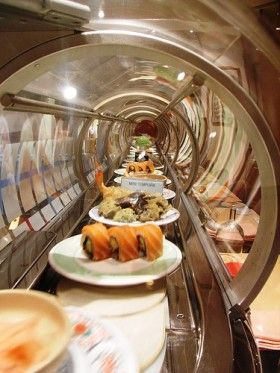 Order sushi like a ninja   Matador Network--Conveyer belt sushi line