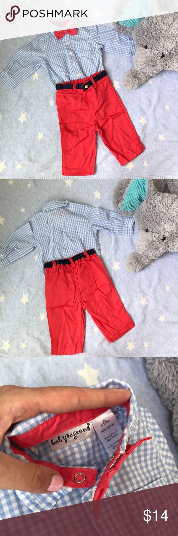 Tenue de nœud papillon babyrageous Pour les bébés très bon marché … chemise à carreaux en vichy bleu clair …   – My Posh Picks