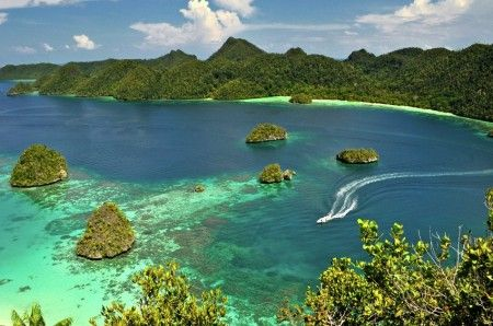 View from the hill at Wayag Island, Raja Ampat, West Papua - Indonesia