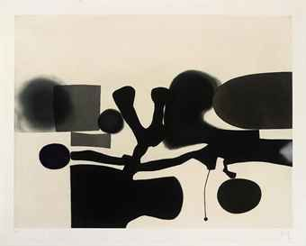 Victor Pasmore (1908-1998)  The Harmony of Opposites (Lynton G43)  aquatint in colours, 1986, on Fabriano paper