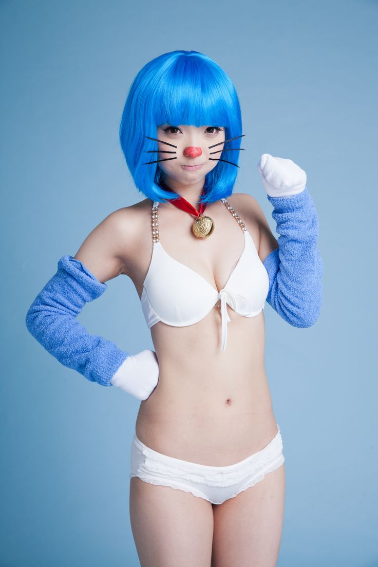 image Cosplay babes doraemon is hiding some huge tits