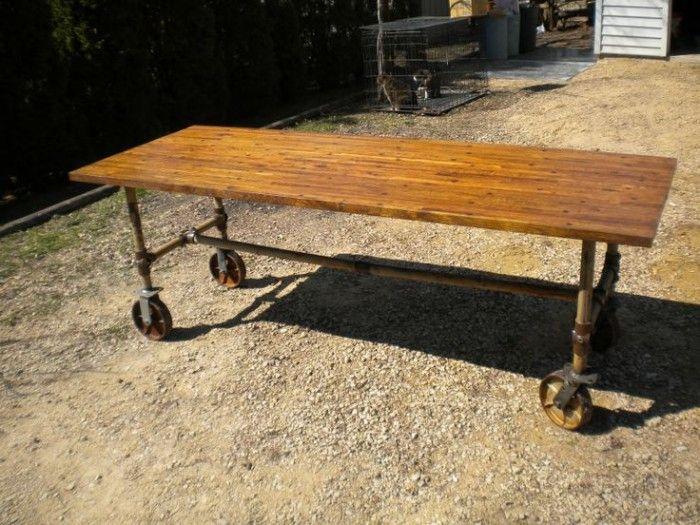アイアン車輪を使ったDIYで、ブルックリン系のコーヒーテーブルを作ろう! | DIY FACTORY COLUMN