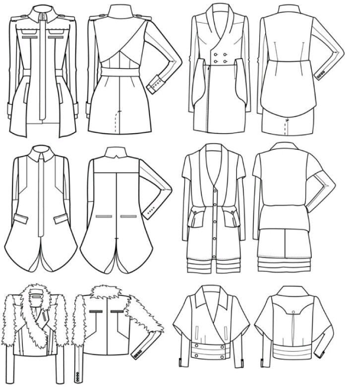 Jacket flat illustration