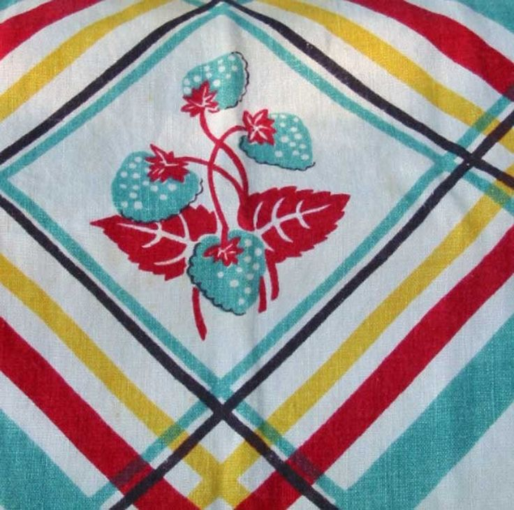 Vintage Kitchen, Turquoise & Red