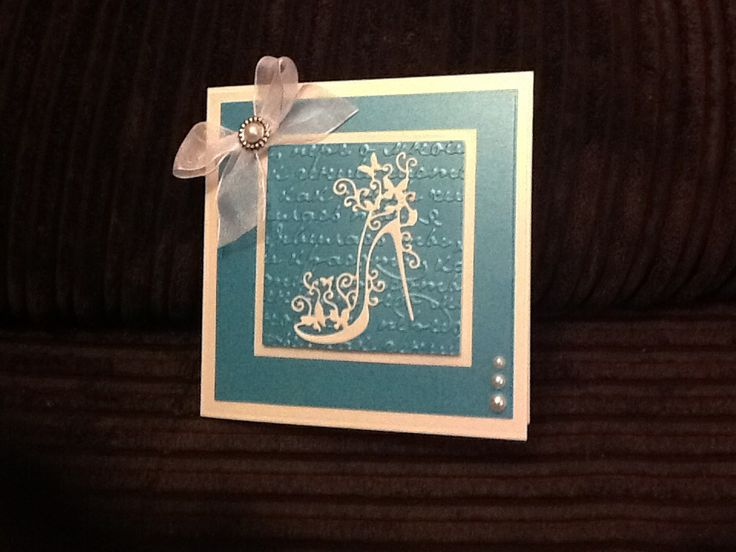 Tattered lace shoe on die'sire gothic script embossing folder