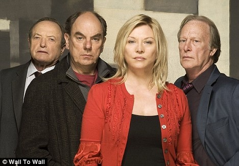 Amanda Redman as Sandra Pullman in New Tricks (with James Bolam as Jack Halford, Alun Armstrong as Brian Lane (Memory Lane), and Dennis Waterman as Gerry Standing (Last Man Standing)