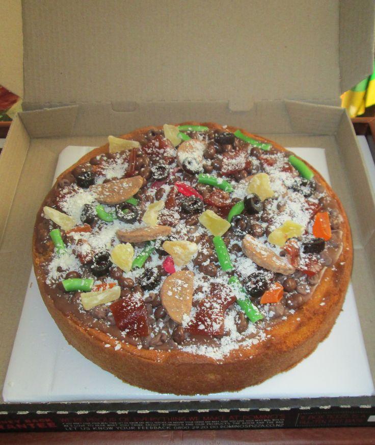 Pizza Supreme Cake for Matt's 16th Birthday