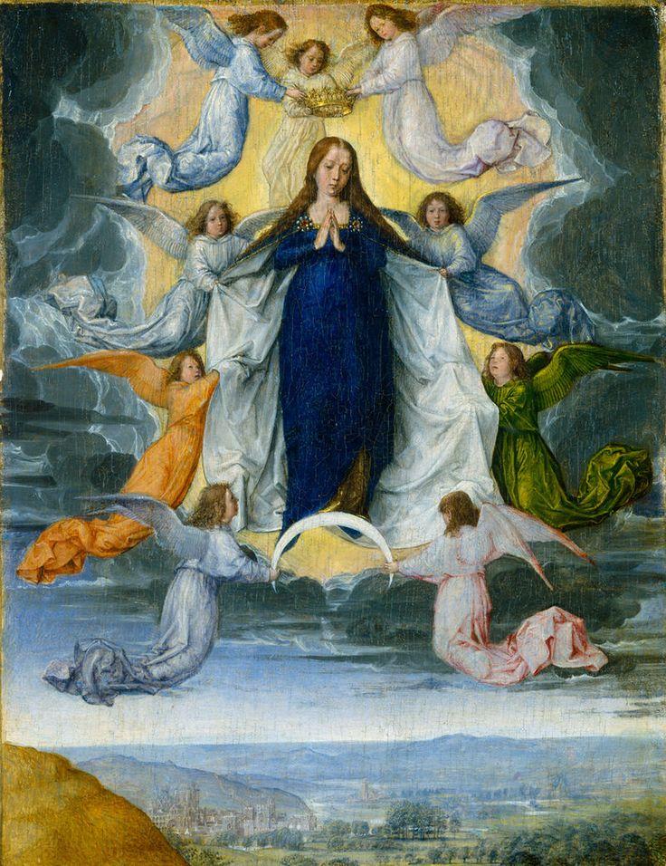 Ascension of the virgin Michel Sittow - Retablo de Isabel la Católica - Wikipedia, la enciclopedia libre