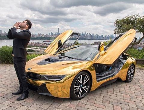 Bmw I8 Gold >> @ridiculous - Our boy @cobypersin rockin his gold BMW I8