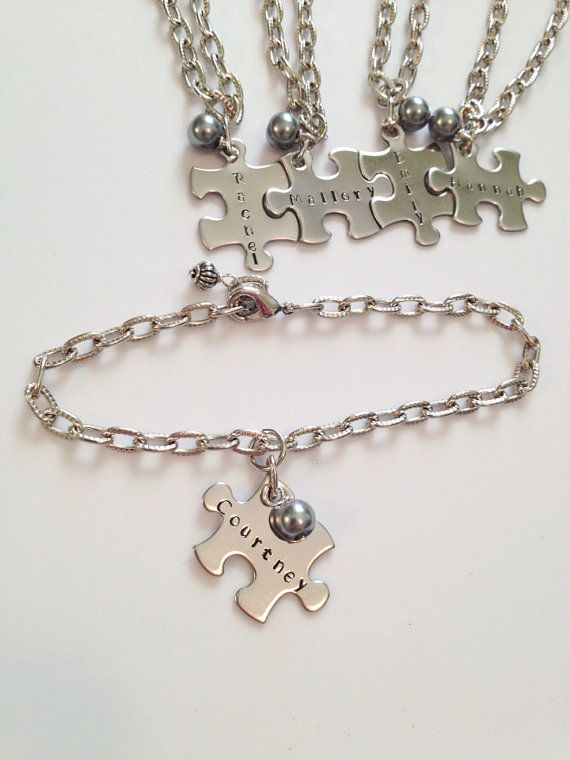 Personalized Puzzle Piece Charm and Crystal by StampedWithHope