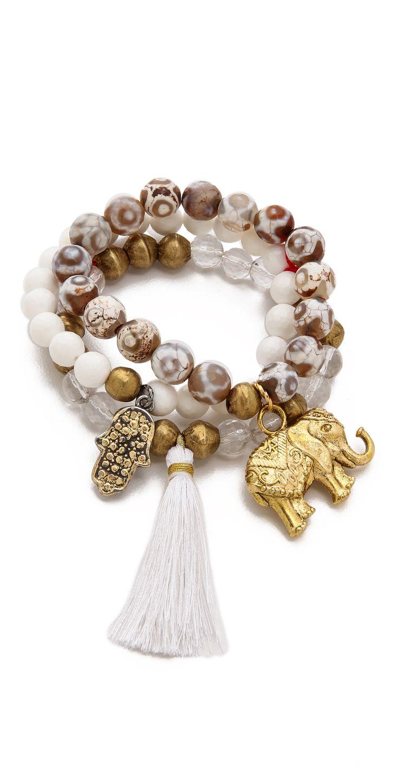 Lead Beaded Elephant Bracelet Set | SHOPBOP