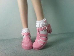 So cute #shoes #jellyshoes #pink #socks