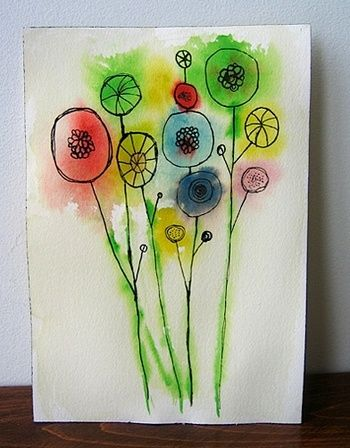 17 best images about flower arts crafts on pinterest for Easy watercolour projects