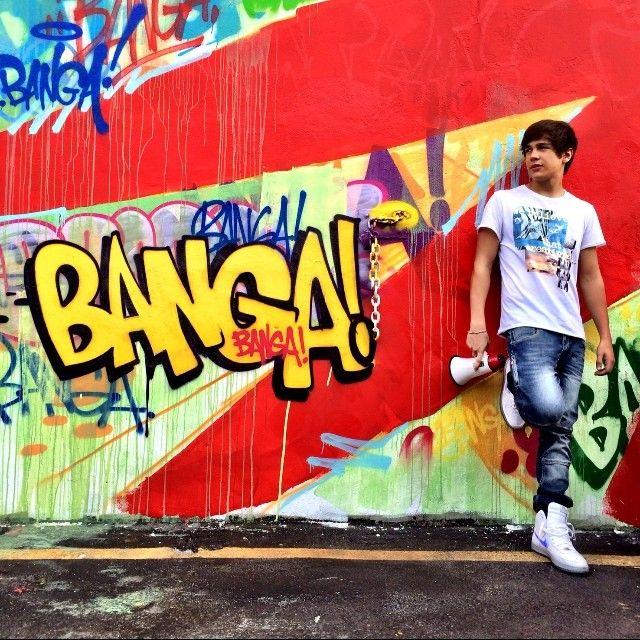 """Austin Mahone shooting his """"Banga Banga"""" music video! Cant wait for it"""