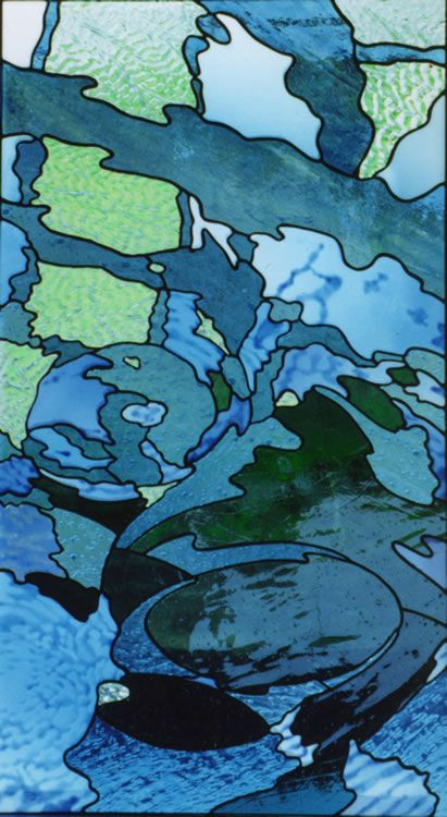 Glass art by Steven Wrubleski of Eidos Stained Glass, Lopez Island, WA