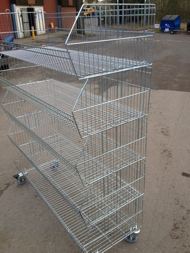 www.shelving4shops.co.uk  Mobile stacking bin unit.