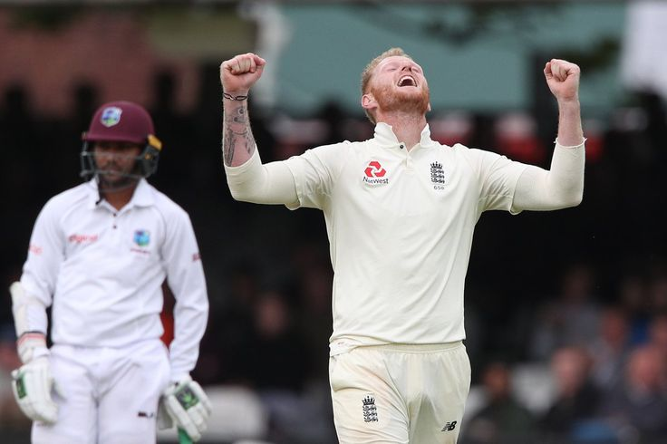 Ben Stokes takes 6-22 v WI at Lords. Ian Botham tapped Mike Brearley on the shoulder during one of the wickets and said, 'Do you remember those?' | @bbctms