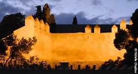 The Alcazaba of Malaga illuminated at night, view captured from the Gibralfaro Parador © Michelle Chaplow