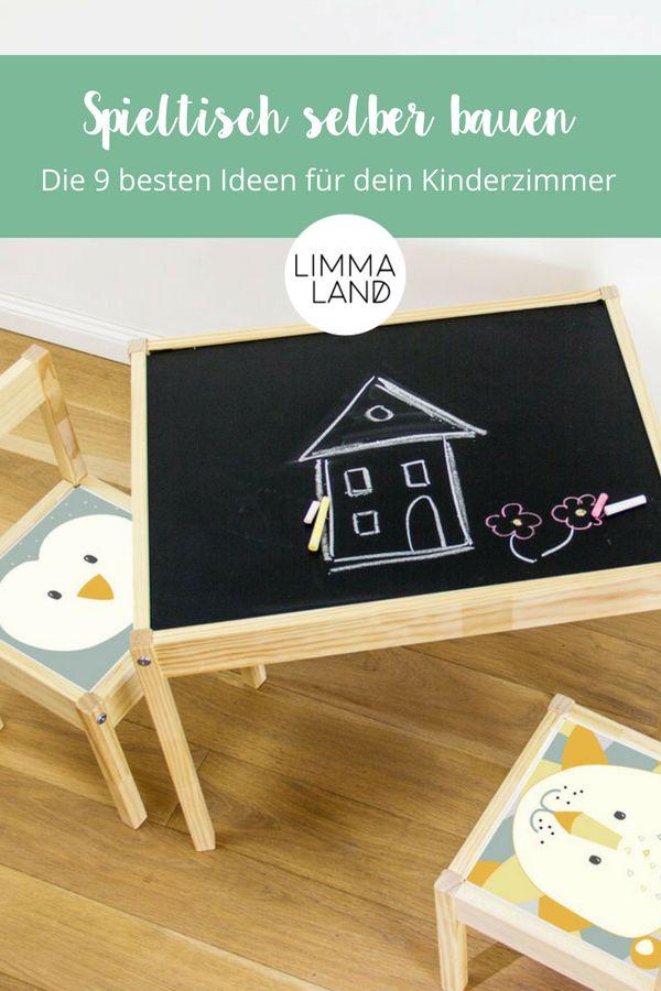 Hier sind sie die 9 schönsten Ideen für einen Spieltisch im  Kinderzimmer. Ihr sucht einen Spieltisch für das Kinderzimmer? Dann  schaut doch mal i…