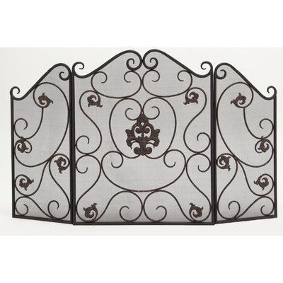 ABCHomeCollection 3 Panel Wrought Iron Fireplace Screen - 25+ Best Ideas About Wrought Iron Fireplace Screen On Pinterest