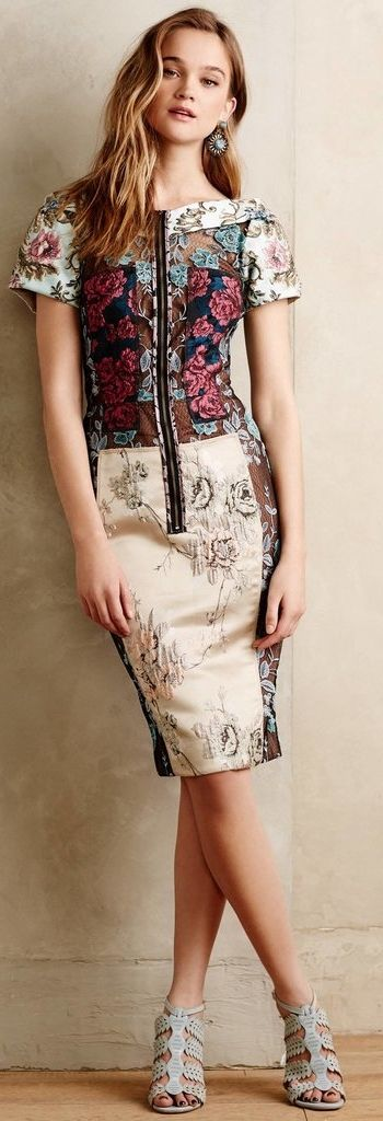 Beguile by Byron Lars Pieced Brocade Dress ($268)