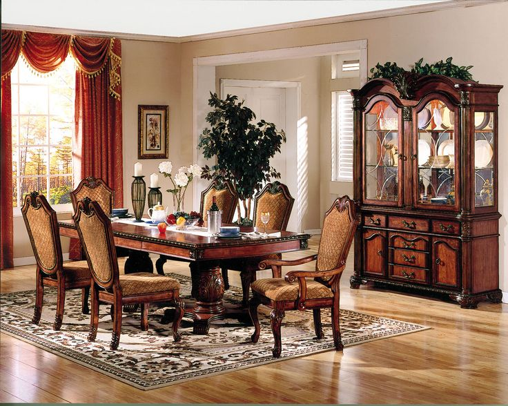 Chateau De Ville Dining Table With Double Pedestal Wood Cherry