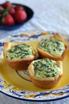 Mini Spinach Quiches