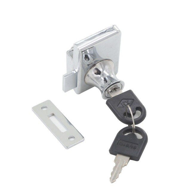 Double Glass Door Lock Fit For 5 8mm Thickness Glass With Keyed Alike Or Different For Showcase Cabinet Glass Lock Review Glass Door Lock Double Glass Doors Double Glass