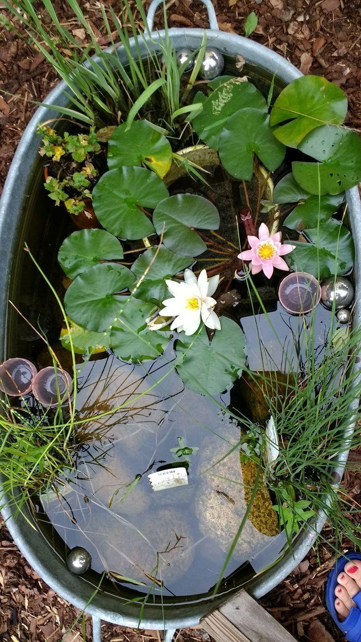 Säge im Garten, Wasserelement.