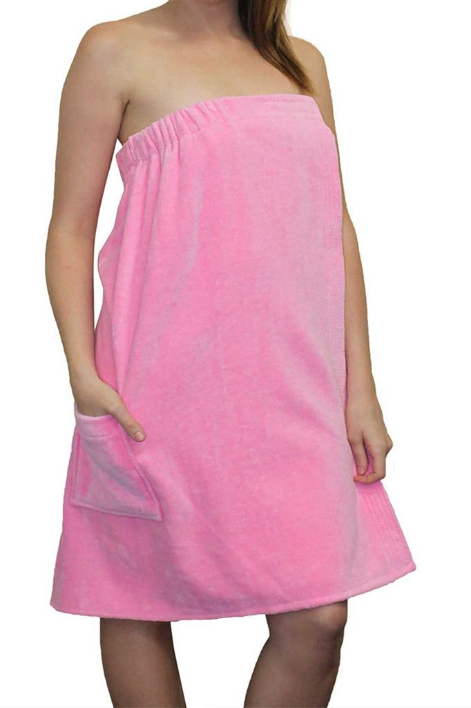 This spa wrap is highly absorbent and ideal for after showering or swimming. It is also great to use as a swimsuit cover-up. #womens #bathwrap
