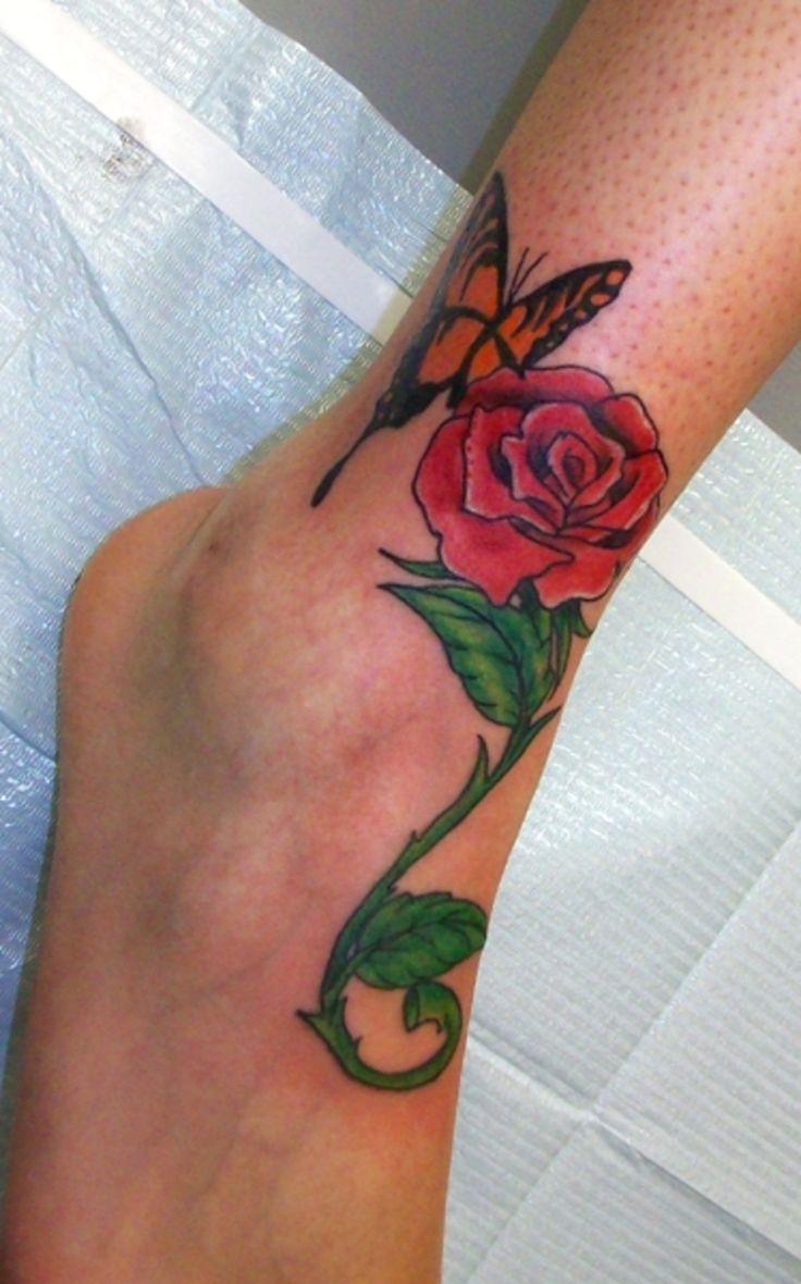 Single Rose Flower Tattoo Legs: 46 Best Rose Leg Tattoos Images On Pinterest