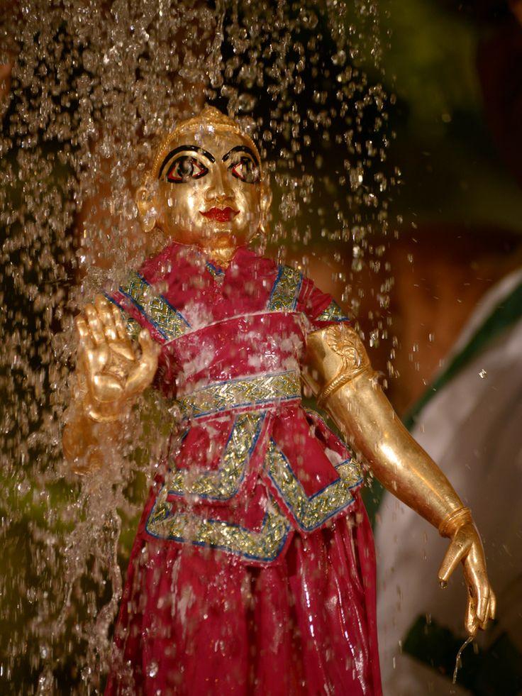 Srimati Radharani Receiving Grand Abhishekam