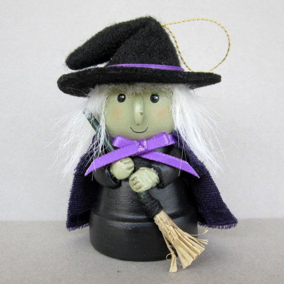 Halloween Witchy Flowerpot Bell Ornament by sanquicreations, $9.99