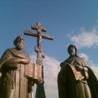 The story of Greek brothers Saints Cyril and Methodius and how they created the Slavonic alphabet. Now they are celebrated each year for the 24 May Bulgarian holiday.