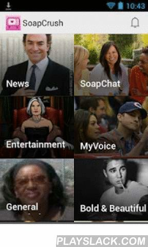 Soap Crush: Soaps News App  Android App - playslack.com ,  SoapCrush is the app for all breaking Soap Opera news plus entertainment & TV show news.SoapCrush includes:> General Hospital updates> The Bold & The Beautiful news digest> The Young and the Restless (Y&R) updates> Days of Our Lives in depth information> ABC, CBS, NBC and other network channels, episode and daytime TV updates> Includes Spanish novela newsDownload SoapCrush now - free!