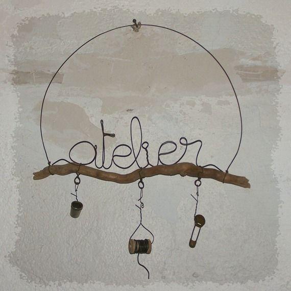 Atelier décoration murale fil de fer sur le thème couture latelierdesof.com
