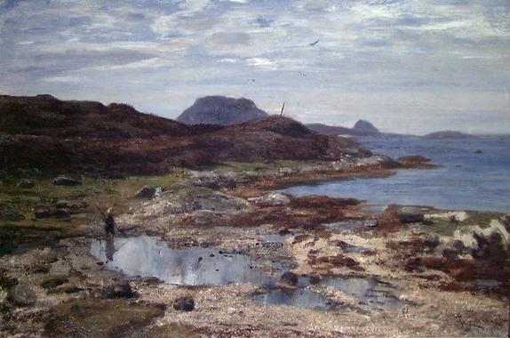 Frederik Collett (1839-1914): Sommerbilde fra Florø, 1887