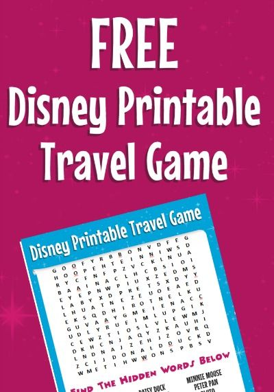 road trip tips bring this free disney word search more printable travel games for kids - Disney Free Kids Games